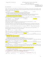 Đề thi KS THPT QUỐC GIA (01) tháng 6 năm 2015 môn vật lý