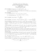 Đề luyện thi thử THPT quốc gia môn Toán số 8