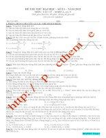Đề luyện thi THPT Quốc gia môn Vật lý số 13