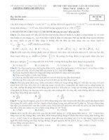 ĐỀ THI THỬ LẦN III NĂM 2014 CHUYÊN YÊN BÁI CÓ ĐÁP ÁN môn vật lý (1)