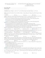 Đề ôn thi THPT quốc gia môn Vật lý số 6