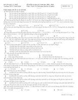 Đề kiểm tra học kì môn Hóa lớp 11 (7)