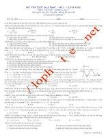 Đề luyện thi THPT Quốc gia môn Vật lý số 1