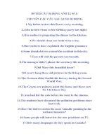 Đề THI CÂU Bị ĐộNG ANH 12 Số 1