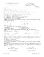 Đề kiểm tra 1 tiết Vật lý 10 chương 1