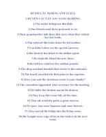 Đề THI CÂU Bị ĐộNG ANH 12 Số 2