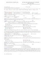 Đề thi thử THPT Quốc gia môn Hóa học chọn lọc số 59