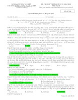 Đề thi thử THPT Lương Ngọc Quyến lần 2 - 2015 môn vật lý