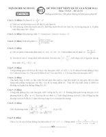 bộ đề thi thử thpt quốc gia môn toán các tỉnh có đáp án chi tiết