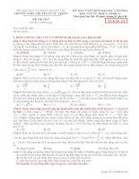 Đề Thi Thử Lần 1 Chuyên Lý Tự Trọng-Cần Thơ 2014 môn vật lý có đáp án (4)
