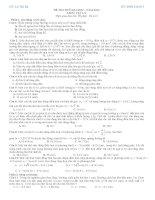 Đề thi thử đại học môn vật lý GV Lê thị Hà môn vật lý (có đáp án)