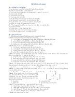 Đề thi trắc nghiệm và tự luận môn vật lý 9 đề số 3