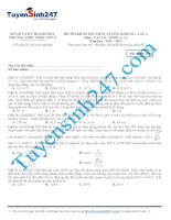 Đề thi thử lý năm 2015 - Có giải chi tiết kèm theo (62)