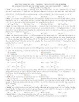đề thi thử lần 1 - ĐHSP Hà Nội môn vật lý