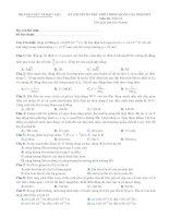 Đề ôn thi THPT quốc gia môn Vật lý số 7