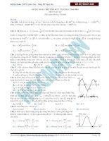 Đề dự đoán kì thi THPT Quốc gia số 2 - thầy Đỗ Ngọc Hà môn vật lý