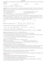 Đề thi thử THPT quốc gia môn vật lý (có đáp án) tham khảo (2)
