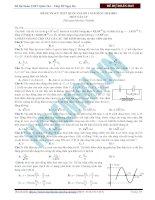 Đề Dự Đoán THPT Quốc Gia Số 1 môn vật lý năm 2015 (có Đáp án)