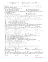 Đề kiểm tra học kì môn Hóa lớp 11 (12)