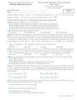ĐỀ THI THỬ LẦN II NĂM 2014 CHUYÊN YÊN BÁI CÓ ĐÁP ÁN môn vật lý (4)