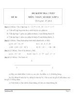Đề kiểm tra 1 tiết môn Toán lớp 6 - Đề (86)