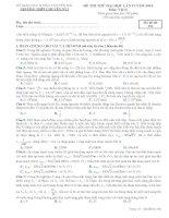 ĐỀ THI THỬ LẦN II NĂM 2014 CHUYÊN YÊN BÁI CÓ ĐÁP ÁN môn vật lý (3)
