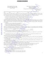 Đề sinh học 12 - sưu tầm giới thiệu đề thi thử đại học lần II Lê Quý Đôn tham khảo
