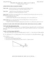 Đề và đáp án thi học kì 1 Vật lý 10 THPT Mộc Hóa