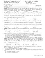 Đề thi thử đại học môn vật lí tỉnh Gia Lai 2015 (16)