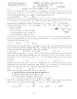 Đề thi thử trường Tĩnh Gia 2 (có giải chi tiết) môn vật lý