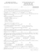 Đề thi thử đại học môn Hóa học số 6