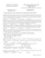 Đề và Đáp án thi thử lần 1 THPT Hà Trung Thanh Hóa môn vật lý