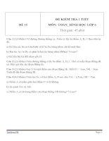 Đề kiểm tra 1 tiết môn Toán lớp 6 - Đề (15)
