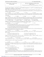 20 ĐỀ THI VẬT LÝ HAY KHÓ CẦN LÀM TRONG THÁNG 6 ( CÓ ĐÁP ÁN) môn vật lý
