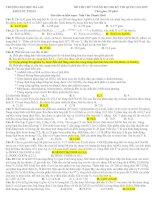 Đề thi thử THPT Quốc gia môn Hóa học chọn lọc số 11