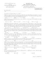TRƯỜNG THPT CHU VĂN ĐỀ KIỂM TRA 1 TIẾT HỌC KỲ I  Môn Vật lý lớp 12 Nâng cao