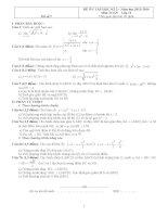 Đề thi học kì môn Toán lớp 11 (7)