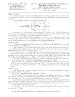 Đề hoá 12 - sưu tầm đề kiểm tra, thi học kỳ, tốt nghiệp thi thử đại học cao đẳng tham khảo bồi dưỡng (141)