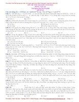 đề thi thử của Thầy Trần Quốc Lâm môn lí 2014