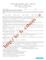 Đề luyện thi THPT Quốc gia môn Vật lý số 11