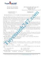 Đề thi thử lý năm 2015 - Có giải chi tiết kèm theo (63)