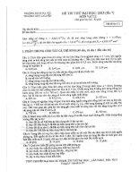 Đề thi thử lần 7 Sư phạm Hà Nội 2013 môn vật lý (có đáp án)