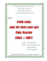 TIỂU LUẬN LỊCH SỬ GIÁO DỤC THẾ GIỚI Chân dung nhà cải cách giáo dục Carl Rogers