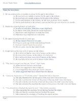 200 câu hỏi thi ĐH môn Anh