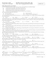 Đề kiểm tra học kì môn Hóa lớp 11 (6)