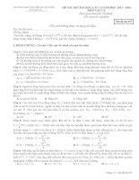 Đề thi thử đại học lần 2 chuyên LÊ QUÝ ĐÔN Quảng trị môn vật lý (3)