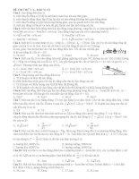Đề thi thử số 3 năm 2014 môn vật lý (có đáp án)