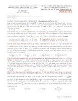 Đề Thi Thử Lần 1 Chuyên Lý Tự Trọng-Cần Thơ 2014 môn vật lý có đáp án (7)