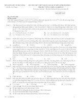 Đề thi thử Vật Lý (có đáp án)