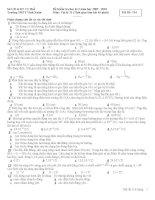Đề kiểm tra học kì môn Hóa lớp 11 (8)